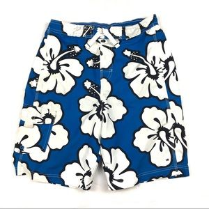8a089a6883269 Tommy Hilfiger boys swim trunks blue floral size L